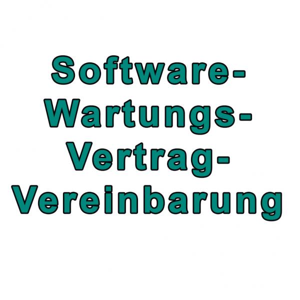 Software Wartungsvertrag-Vereinbarung