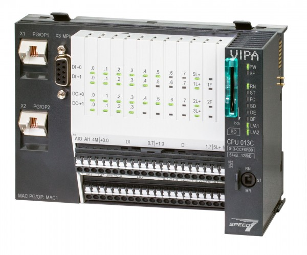 VIPA SLIO CPU 013C (16xDI,12DO,2AI,4xC)