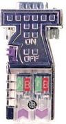 Metall-Profibus-Stecker EasyConn mit Diagnose-LEDs, 0 Grad